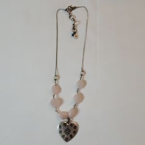 Lucky Brand Pink Stone Necklace